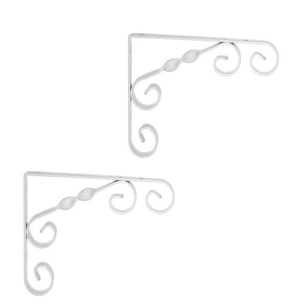 Winkel Set für Waschtischplatten weiss 23x18x1,2 cm