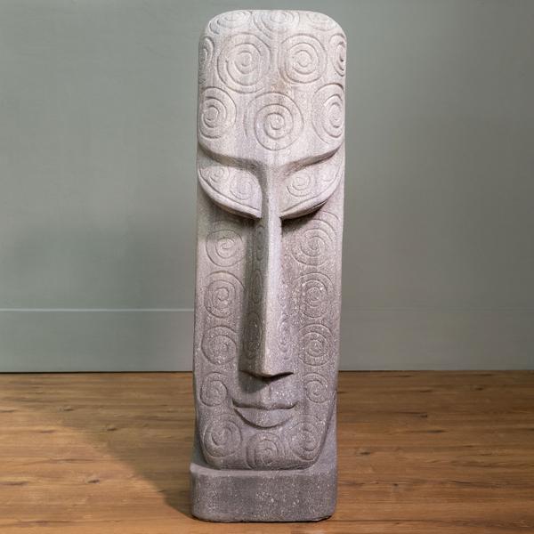 Sandstein Skulptur gemustert 25x30x100 cm
