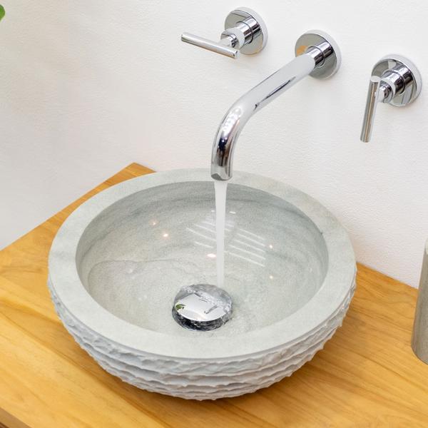 Sandstein Waschbecken 015 mini gehämmert 30 cm