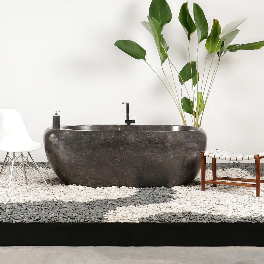badewanne naturstein marmor poliert schwarz grau. Black Bedroom Furniture Sets. Home Design Ideas