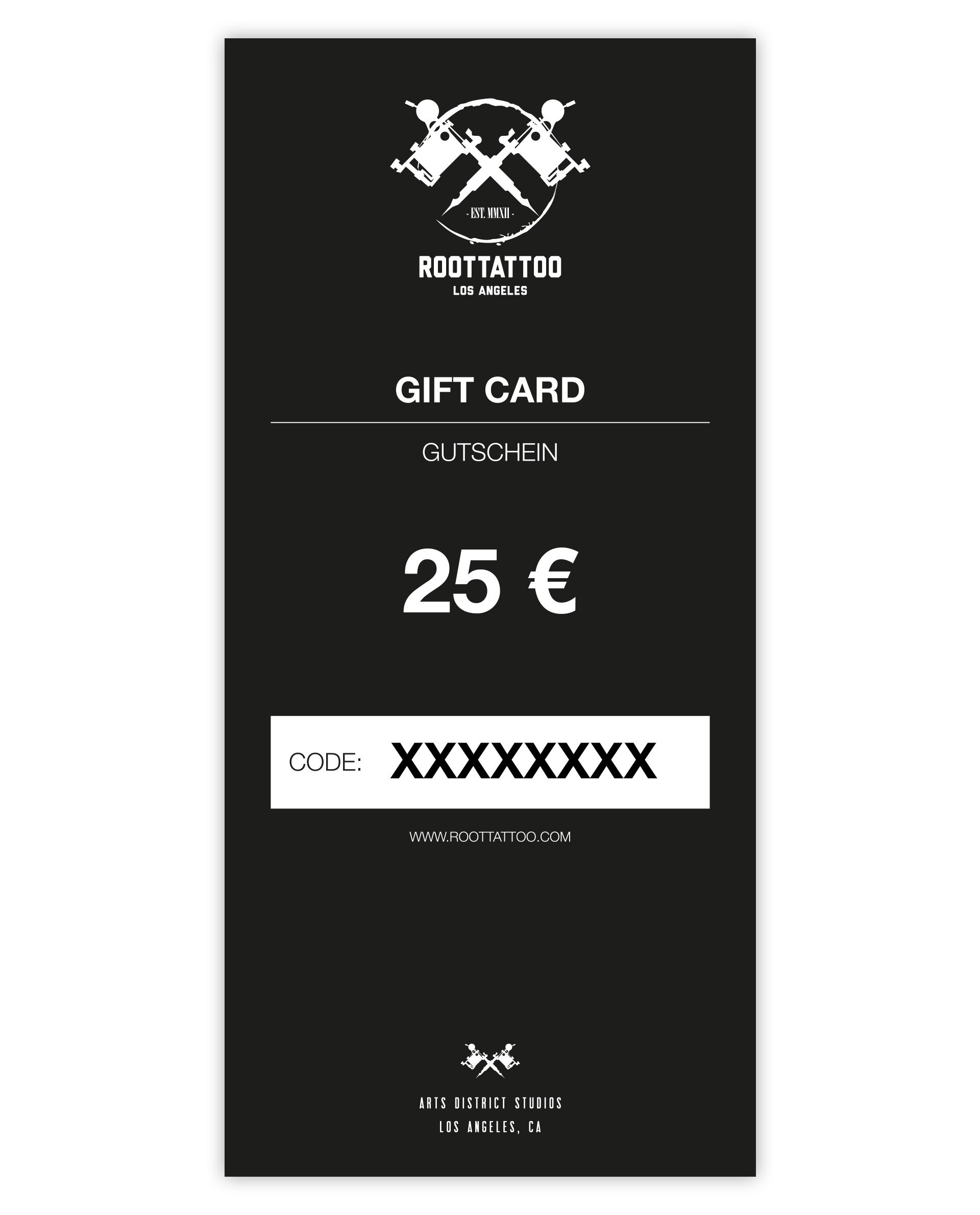25 Euro Gift Card Print Home Shop Accessoires Gift Cards