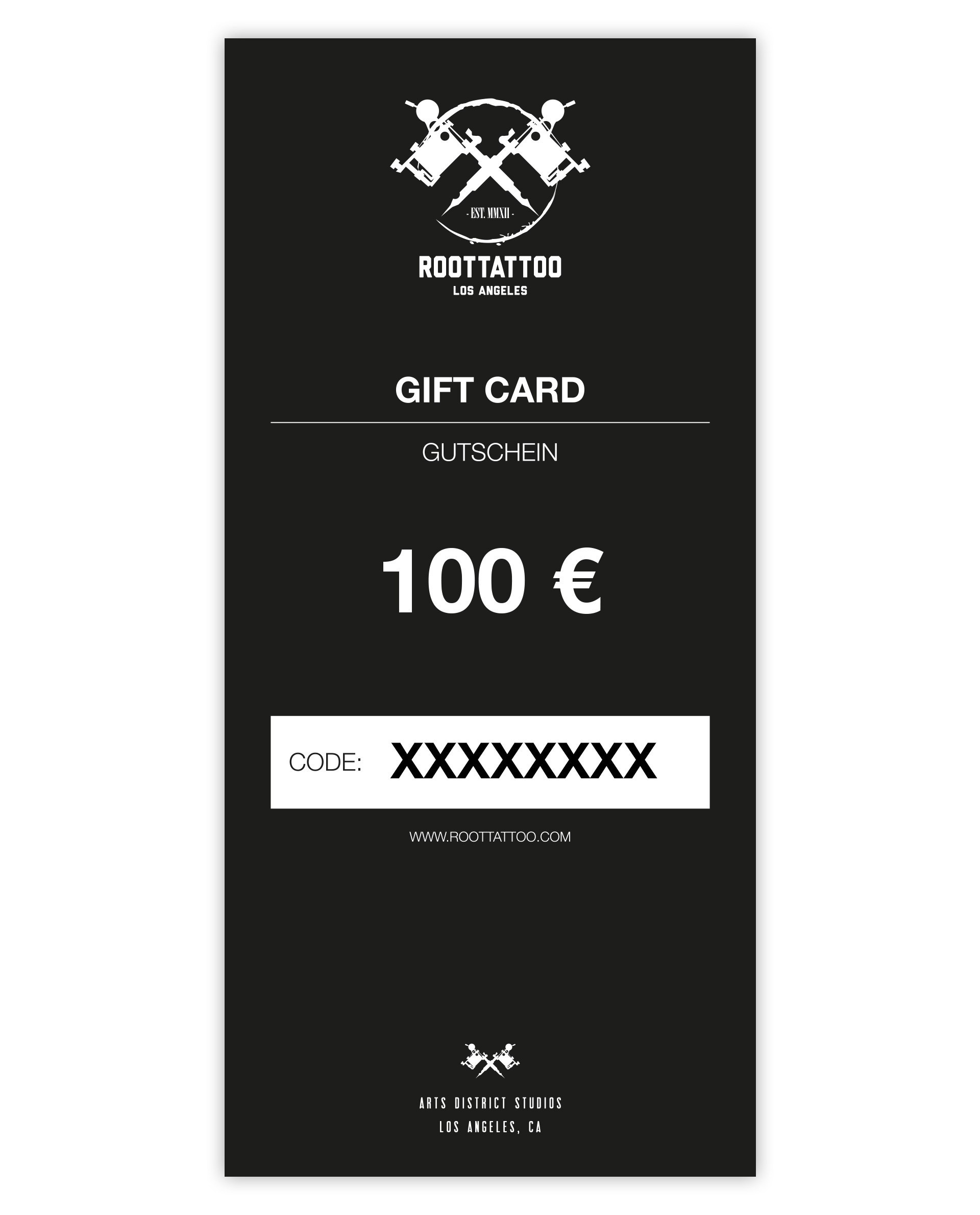 100 Euro Gift Card Print Home Shop Accessoires Gift Cards