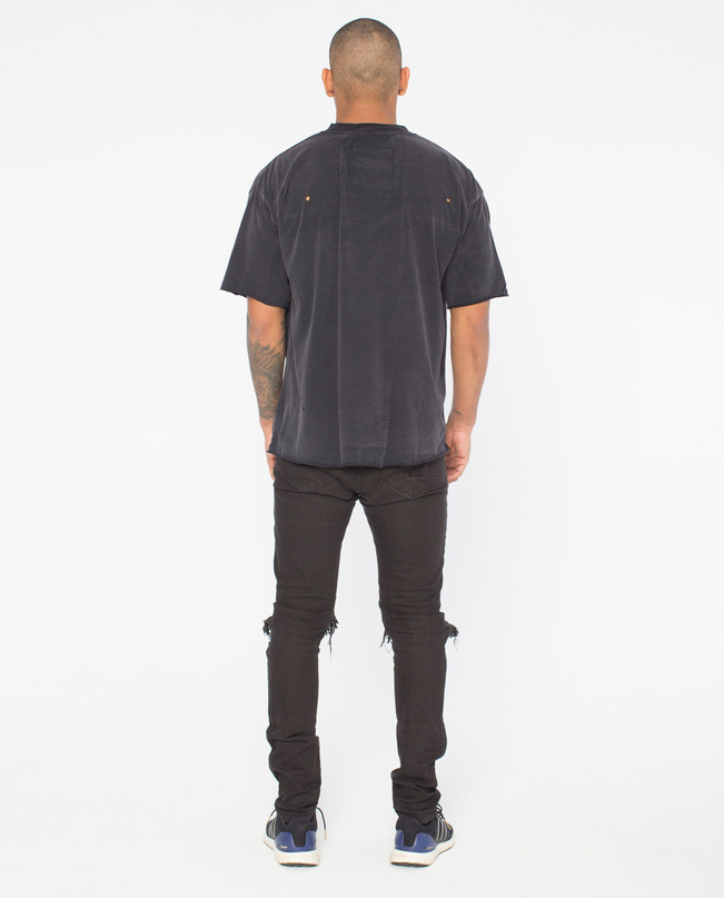 ORIGINS BLACK DISTRESSED TEE – Bild 2
