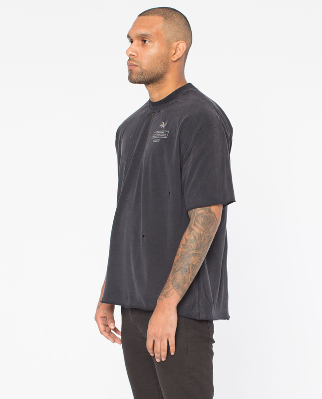 ORIGINS BLACK DISTRESSED TEE – Bild 4