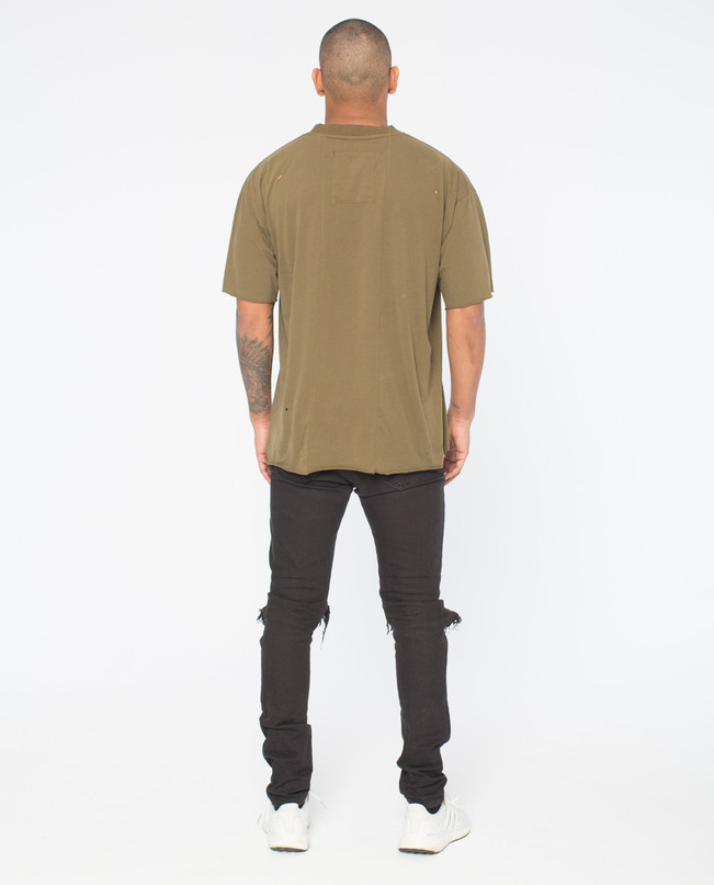 ORIGINS OLIVE DISTRESSED TEE – Bild 2