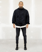 DRP.7 BLACK FULL-ZIP WINDBREAKER 001