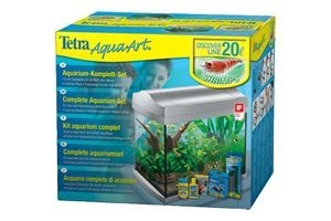 Tetra AquaArt Shrimps Aquarium-Komplett-Set 20 L, anthrazit