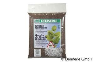 Dennerle Kristall-Quarzkies, Farbkies, dunkelbraun, 5 Kg