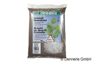 Dennerle Kristall-Quarzkies, Farbkies, dunkelbraun, 10 Kg