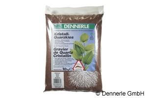Dennerle Kristall-Quarzkies, Farbkies, rehbraun, 10 Kg