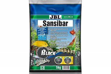 JBL Sansibar Black, Aquarium-Naturkies, 5 kg