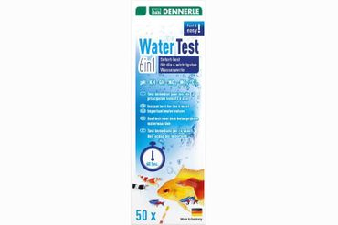 Dennerle WaterTest 6in1, Teststreifen, 50 Stk.