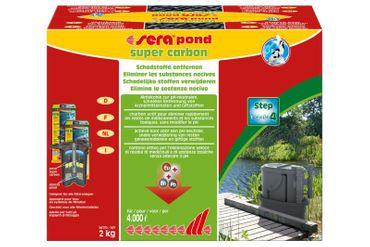 Sera Pond Super Carbon, 2 kg, Reichweite für bis zu 4.000 Liter