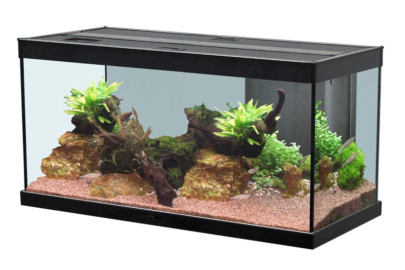 aquatlantis aquarium style led 120x40 schwarz aquarien schr nke. Black Bedroom Furniture Sets. Home Design Ideas