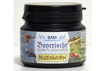 BAM Regenwurm, Futtergranulat für Zierfische, Körnung 0,9-1,4 mm, 100 g