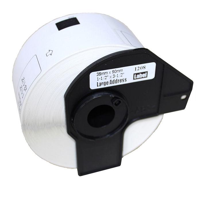 5x Label Etiketten Rollen Weiß mit Spule für Brother DK-11203 17mm x 87mm