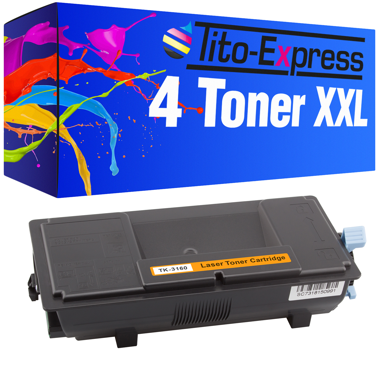 4 Toner XXL ProSerie kompatibel zu Kyocera TK-3160