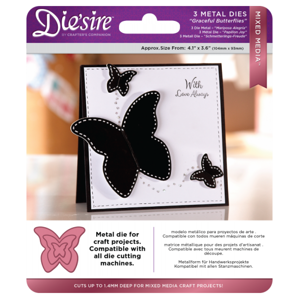 Stanzschablone Graceful Butterflies Mixed Media