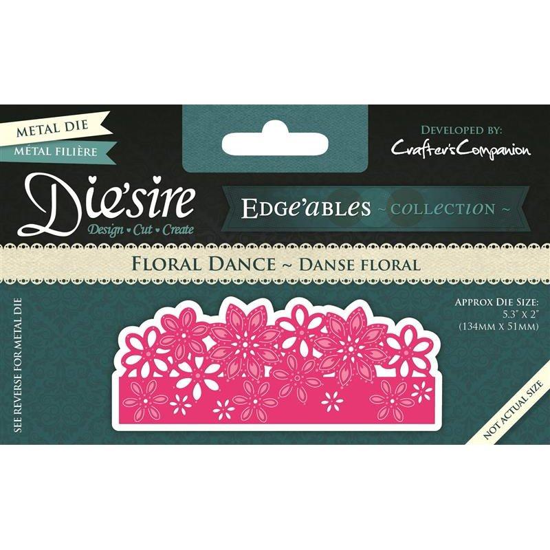 Stanzschablone Edge'ables Floral Dance