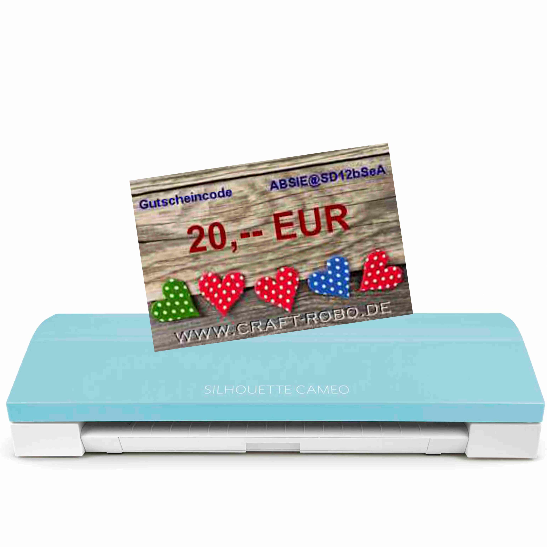 Silhouette CAMEO® 3 Schneideplotter Bluetooth® Türkis inkl. 20 EUR Einkaufsgutschein