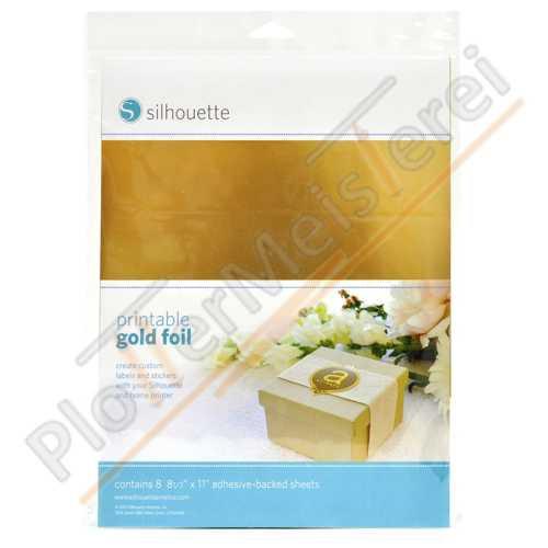 Silhouette Gold Folie bedruckbar