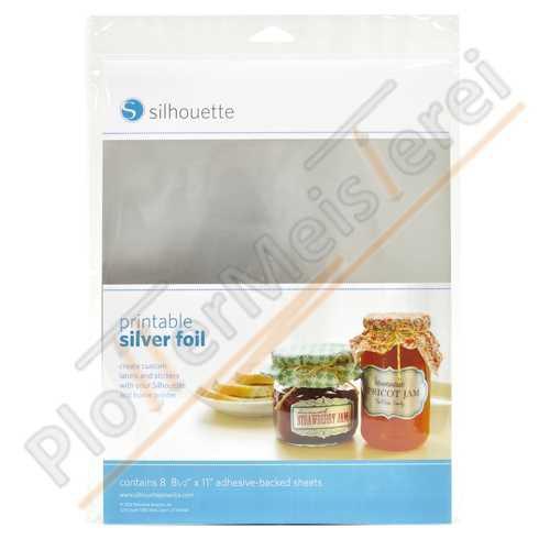 Silhouette Silber Folie bedruckbar