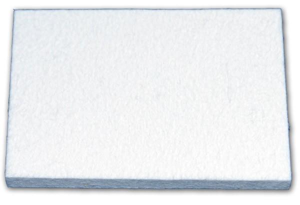 Filzrakel weiß