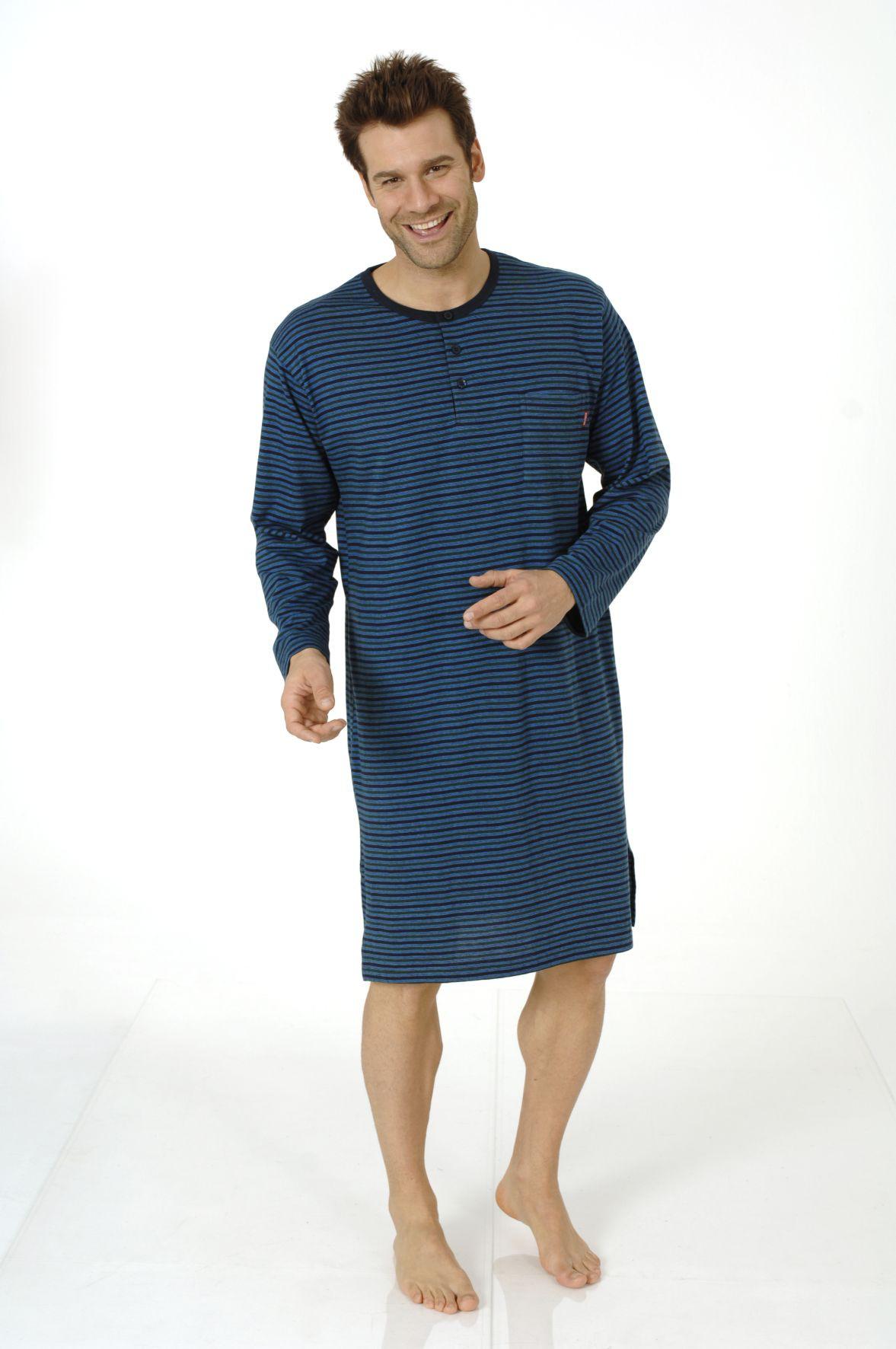 Herren Nachthemd, Single Jersey, geringelt, 110 90 700 001