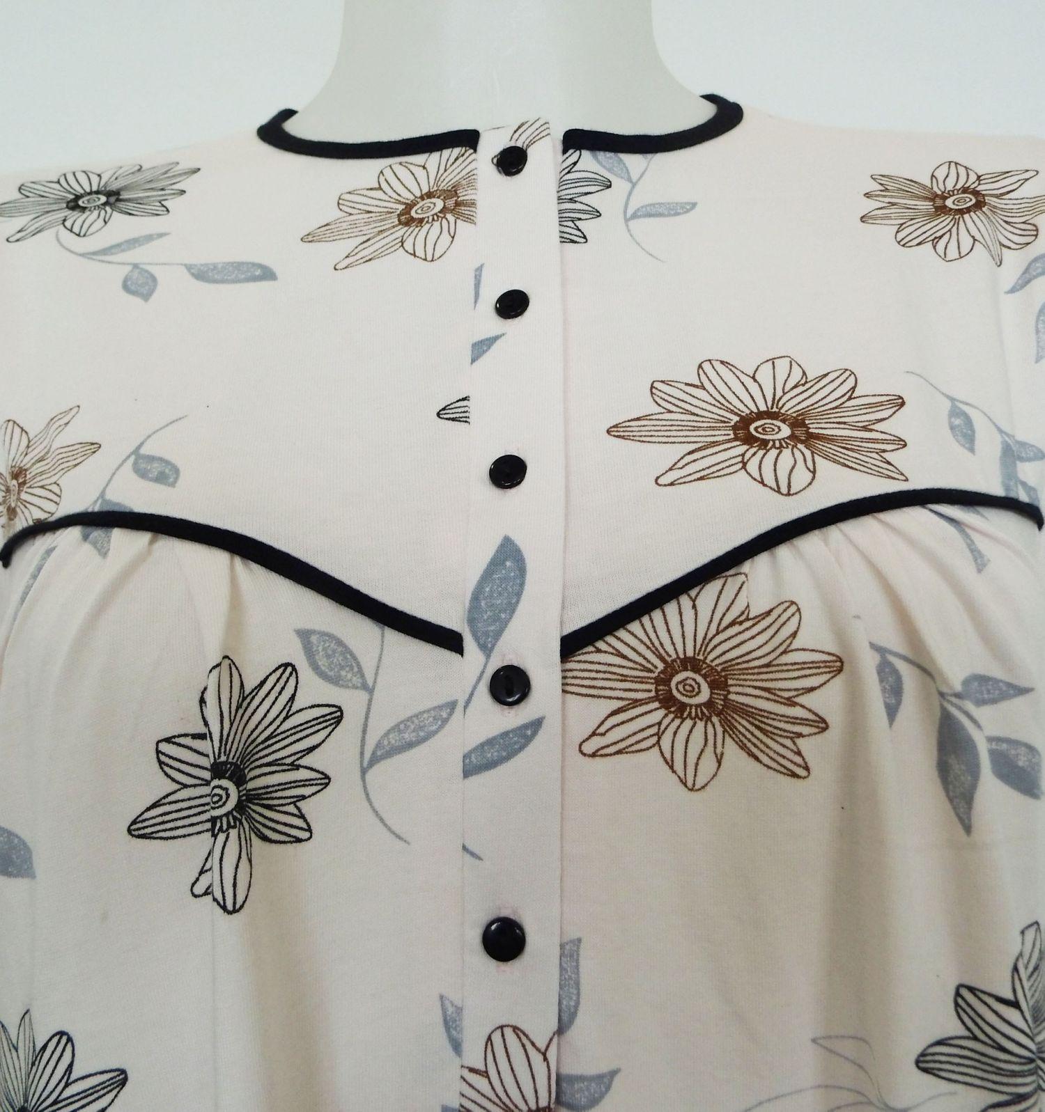 Damen Nachthemd fraulich, langarm, 210 90 542 – Bild 2