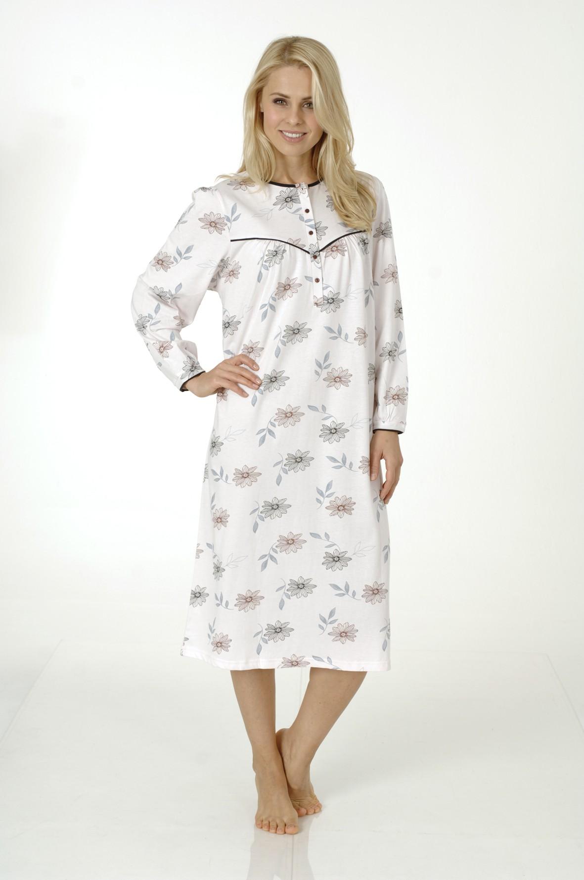 Damen Nachthemd fraulich, langarm, 210 90 542 – Bild 1
