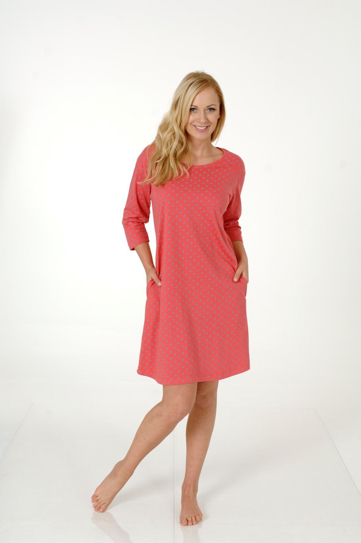 Damen Kurznachthemd, 3/4-Arm, Bigshirt, Sleepshirt, 213 90 530 001