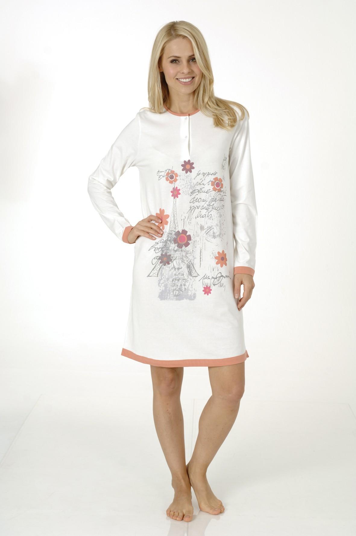 Damen Kurznachthemd, langarm, Sleepshirt, 213 90 546 – Bild 1