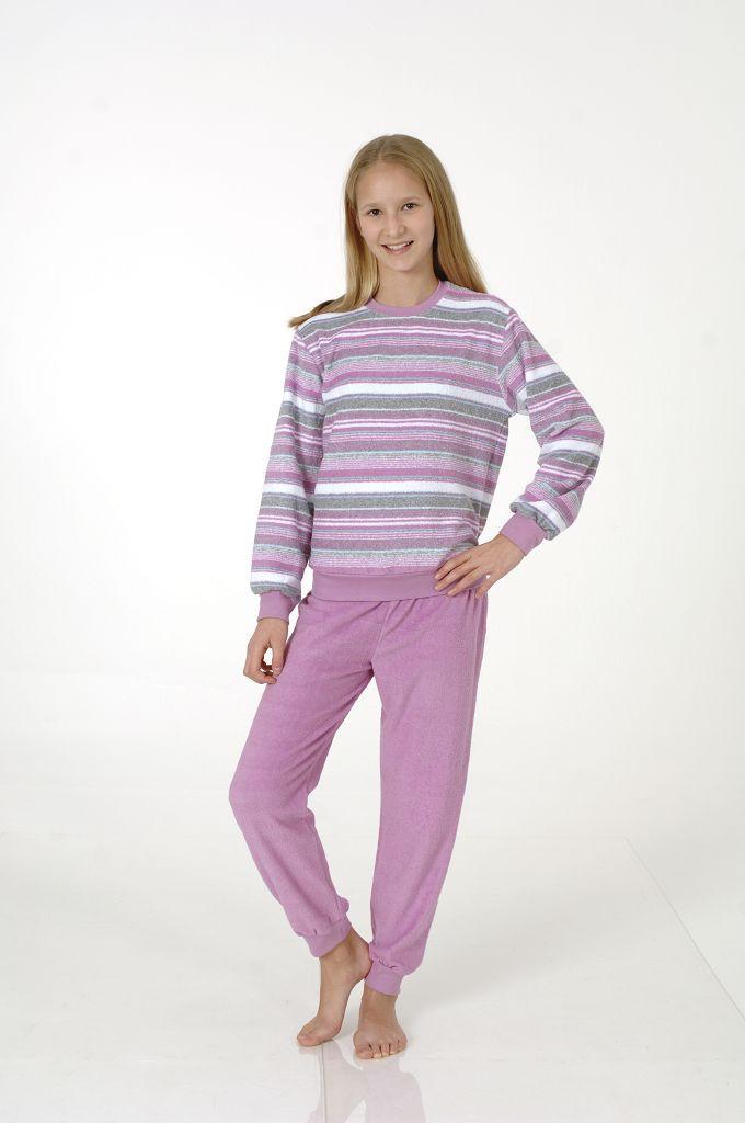 Mädchen Frottee Pyjama mit Bündchen, 401 93 850 001