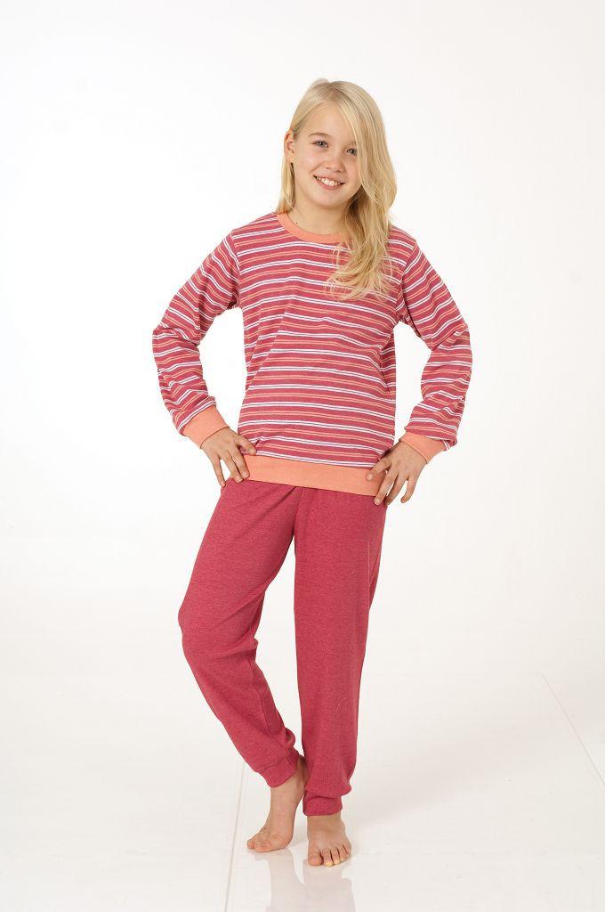 Mädchen Interlock Pyjama mit Bündchen, 401 96 476