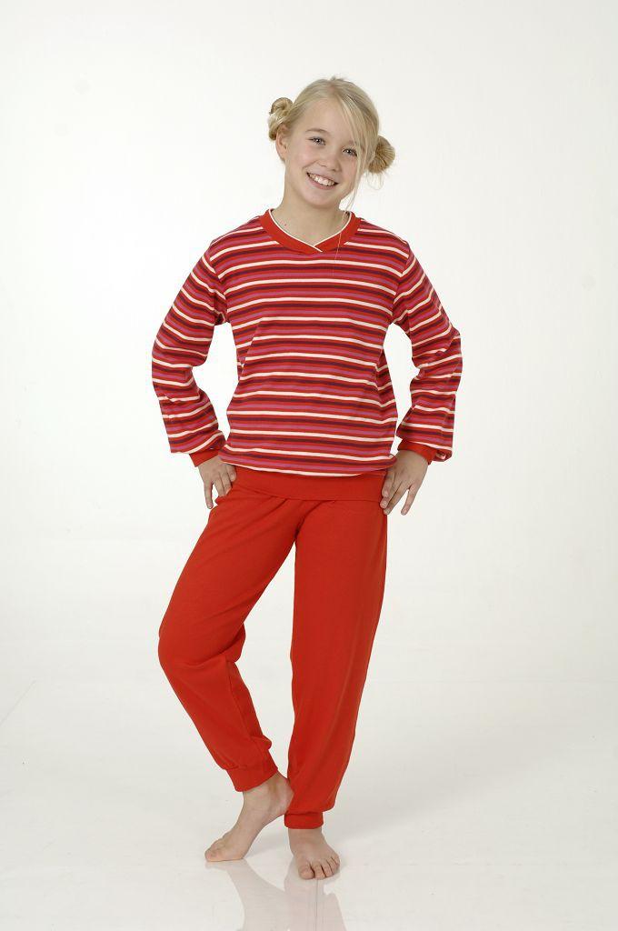 Mädchen Interlock Pyjama mit Bündchen, 401 96 479 001