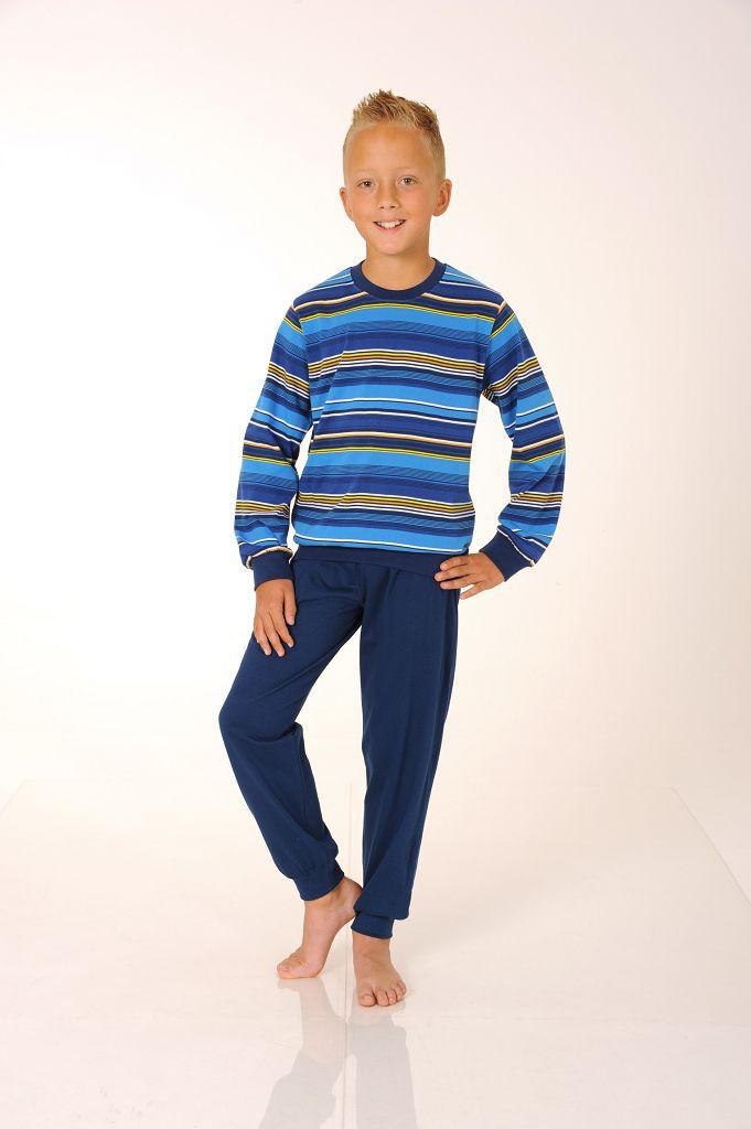 Jungen Pyjama mit Bündchen, 501 90 462