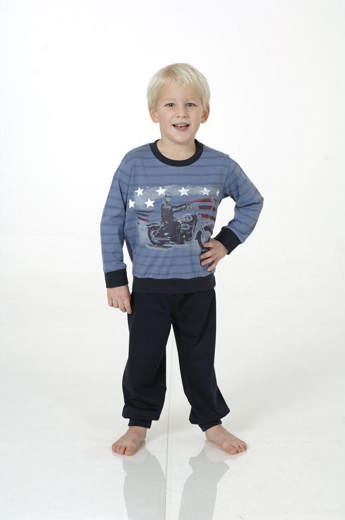 Jungen Kleinkinder Pyjama mit Bündchen, 801 90 442 – Bild 1