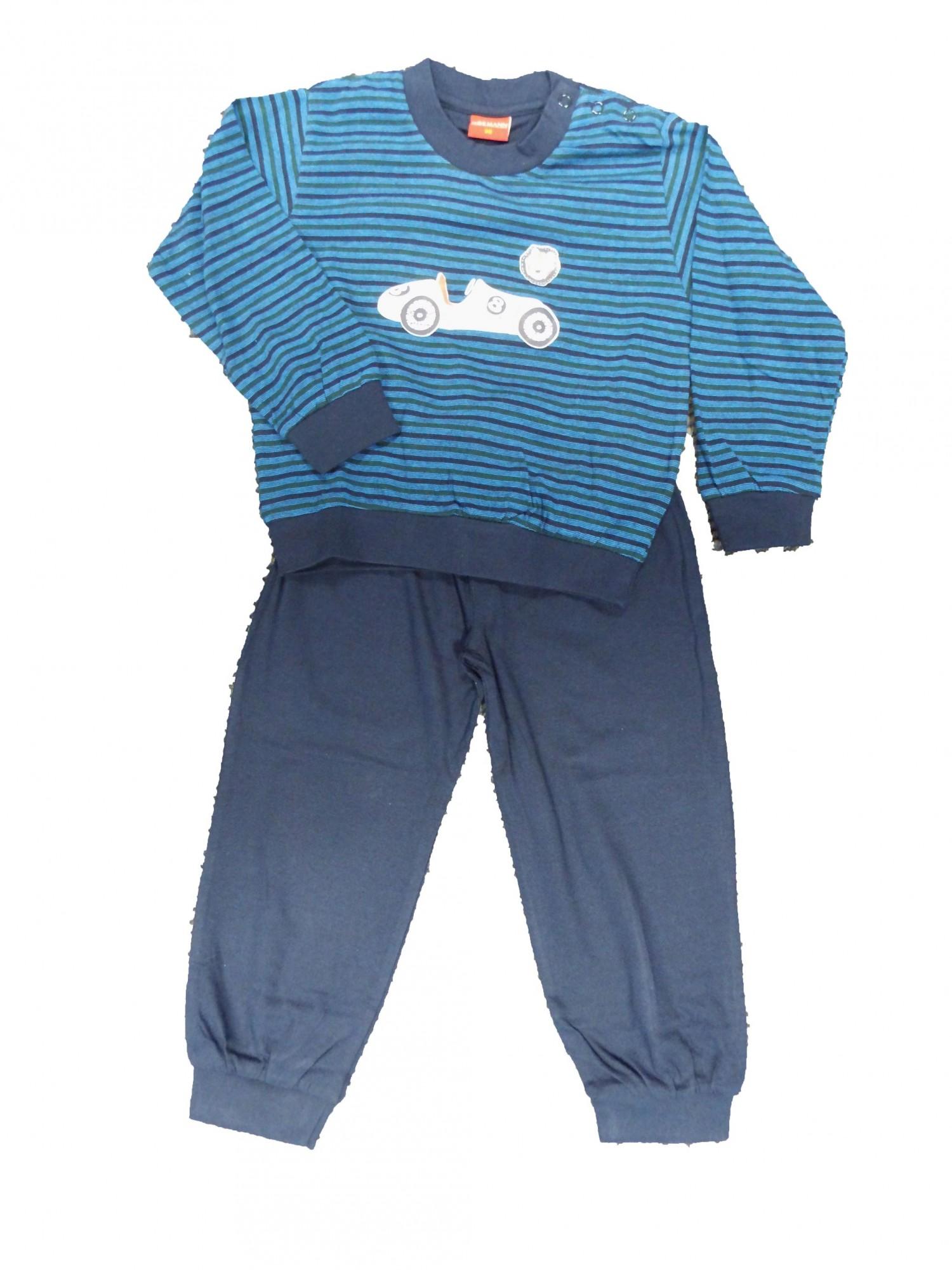 Jungen Kleinkinder Pyjama mit Bündchen, 801 90 700 – Bild 2