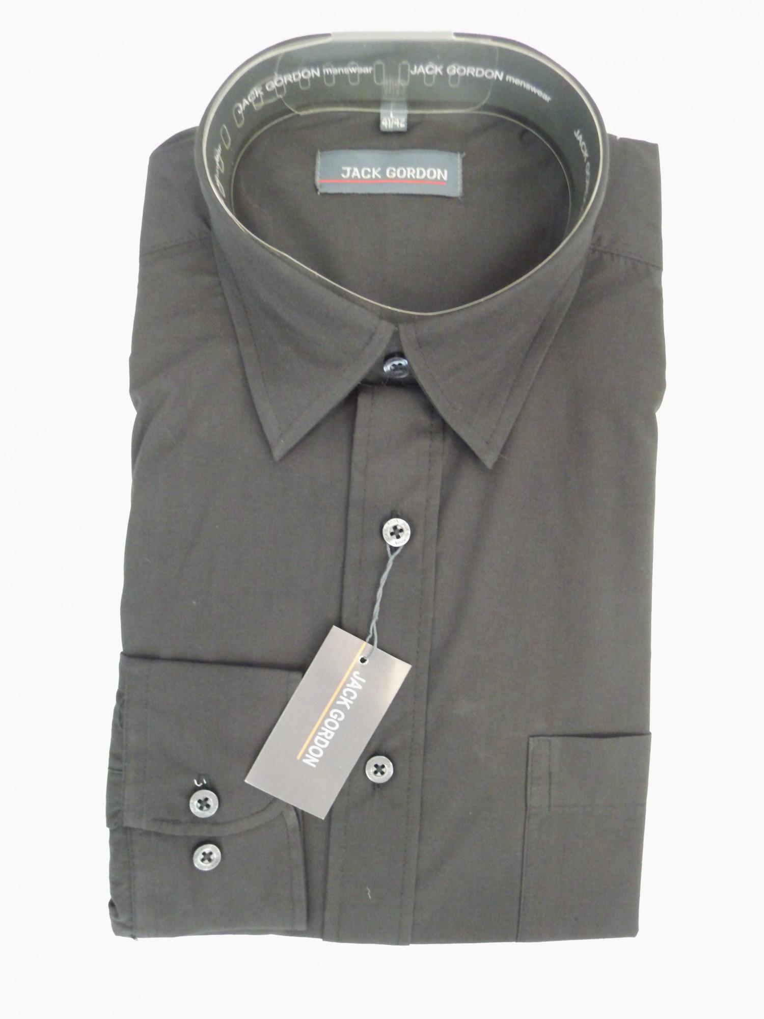Herren Hemd schwarz, langarm, Kent, bügelarm, auch in Übergrössen,  7790-7794 001