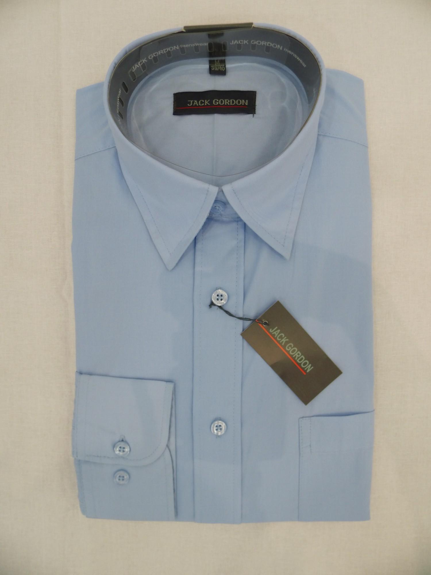 Herren Hemd hellblau, 1/1-Arm, Kent, bügelarm, auch in Übergrössen,  7790-7794