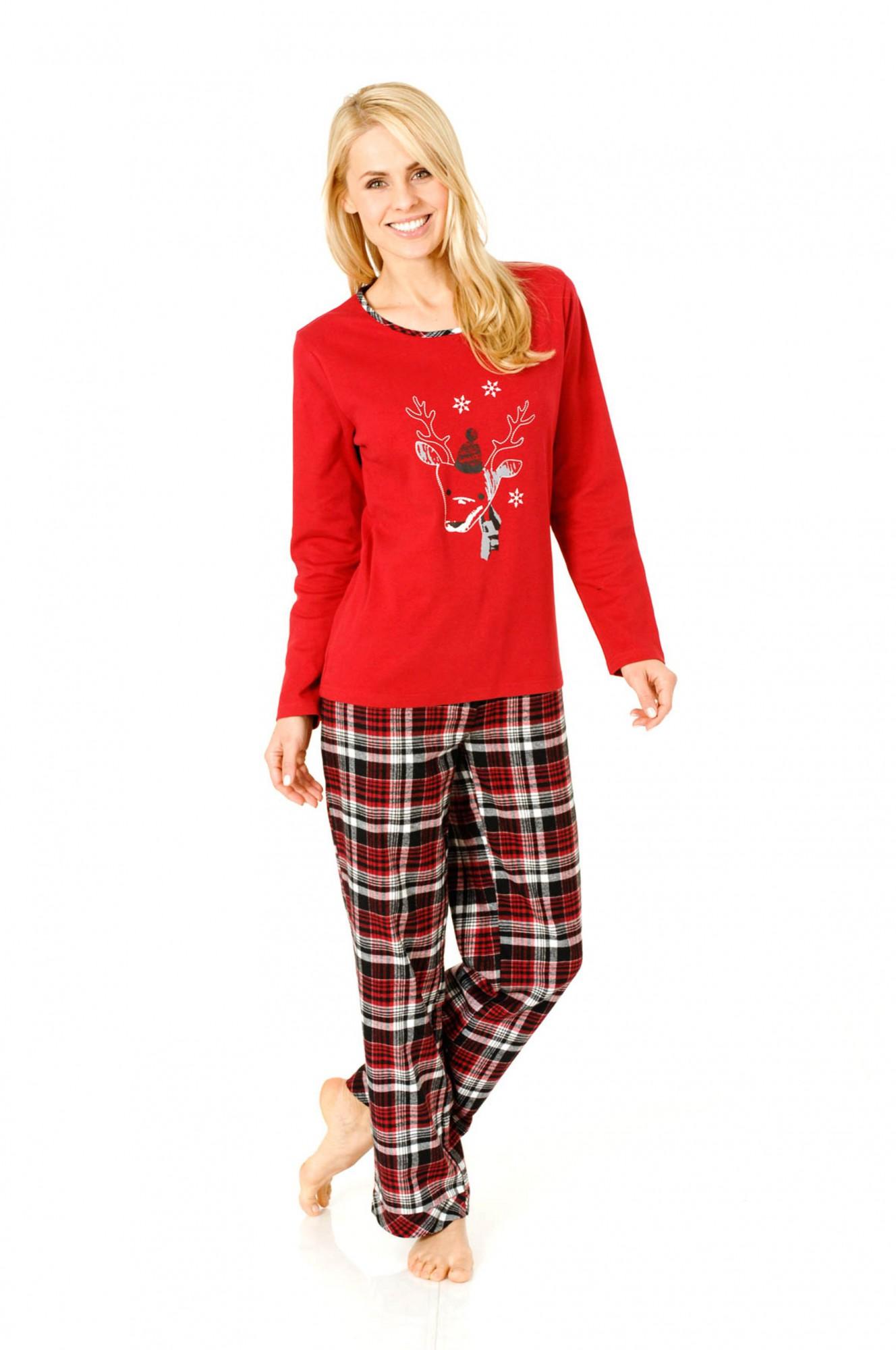 Damen Flanell Pyjama Mix & Match, Flanellhose, Top Interlock, 53404 – Bild 1