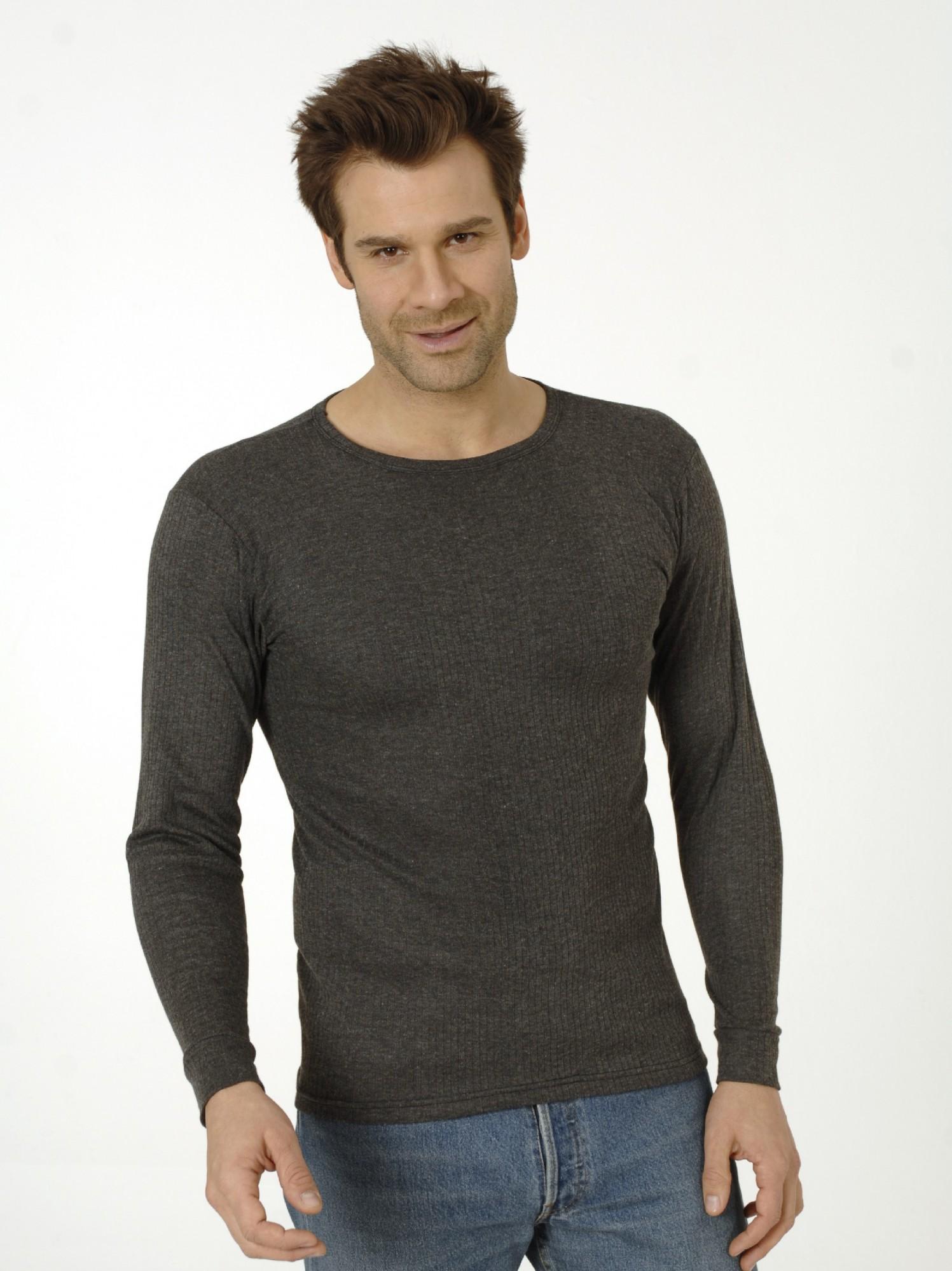 Herren Thermo Unterhemd, 1/1-Arm, langarm, 17003 001