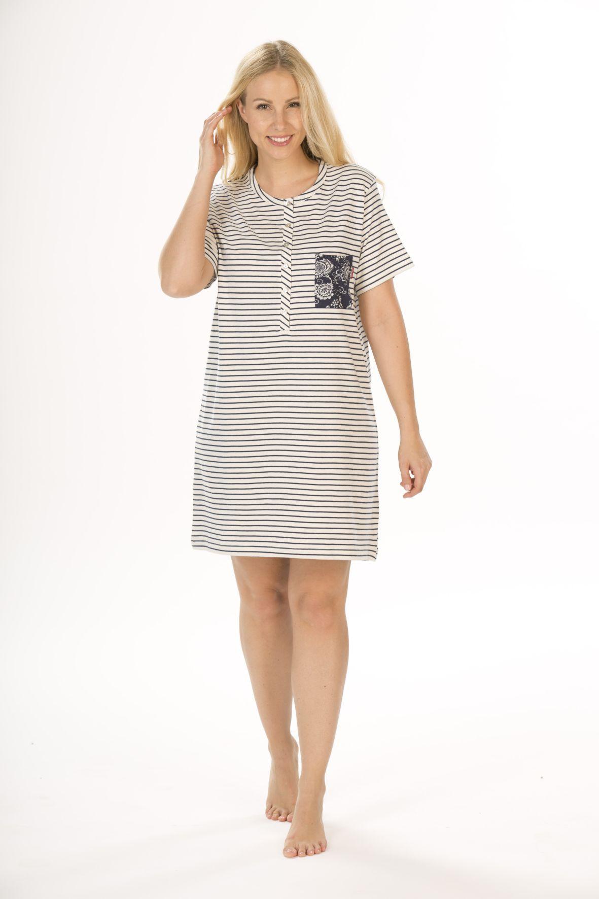 Damen Kurznachthemd, Bigshirt, 95 cm Länge, kurzarm,  151 213 90 752 001