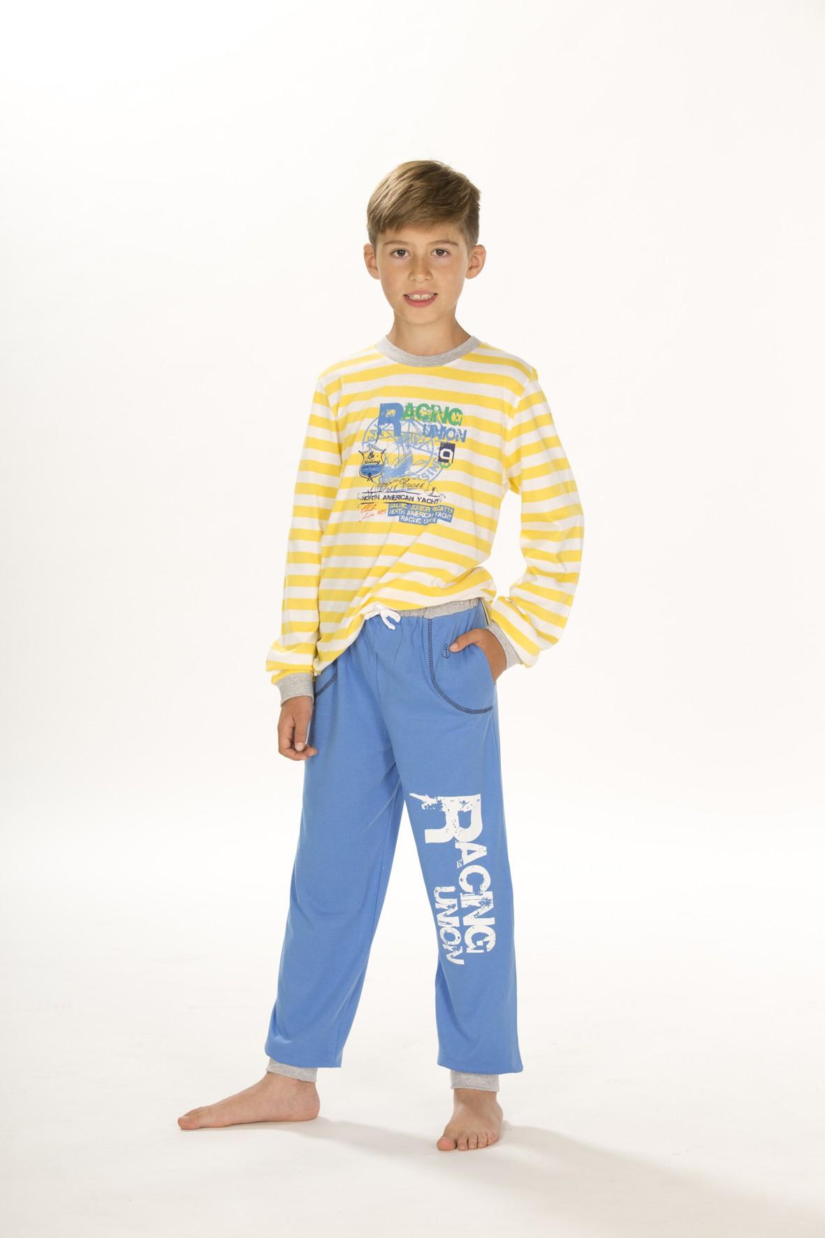 Jungen Pyjama Schlafanzug, langarm, 151 501 90 508 – Bild 1