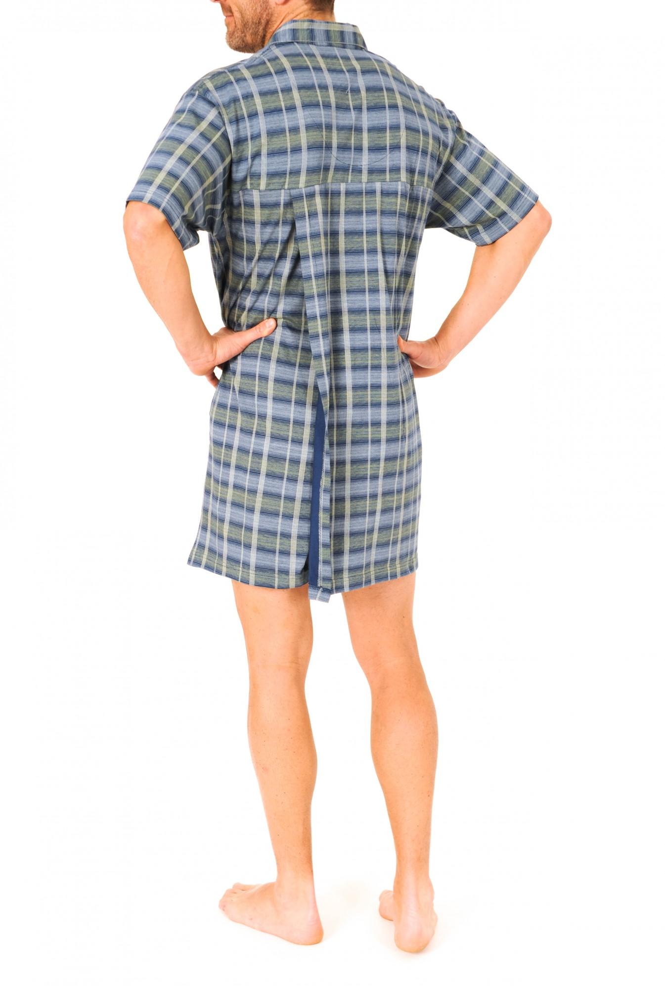 Herren Pflegenachthemd kurzarm, 53045 – Bild 2