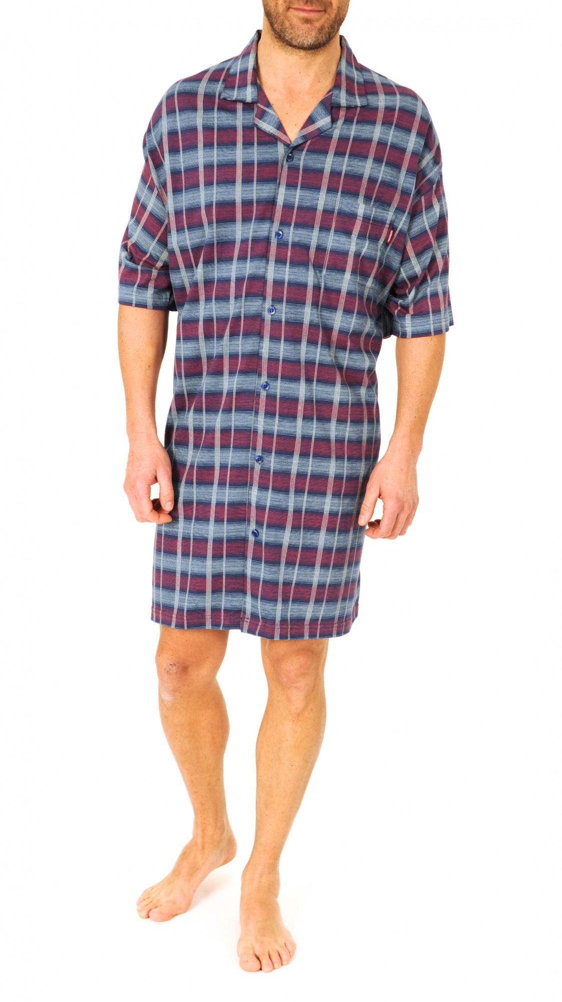 Herren Pflegenachthemd kurzarm, 53045 – Bild 3