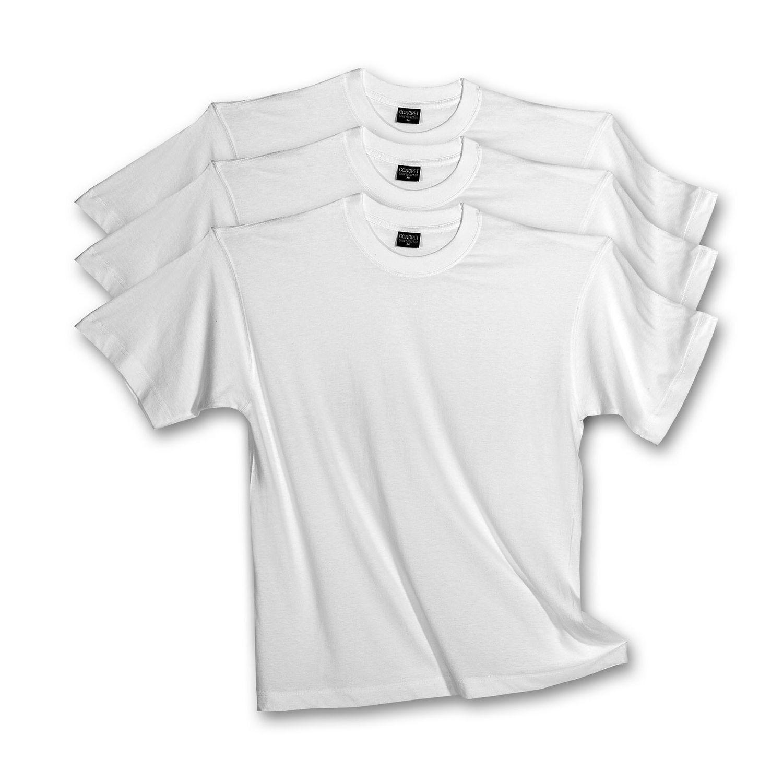 Herren T-Shirts 3erpack weiss,  Rundhals, (auch in Übergrössen erhältlich) 1301 – Bild 1