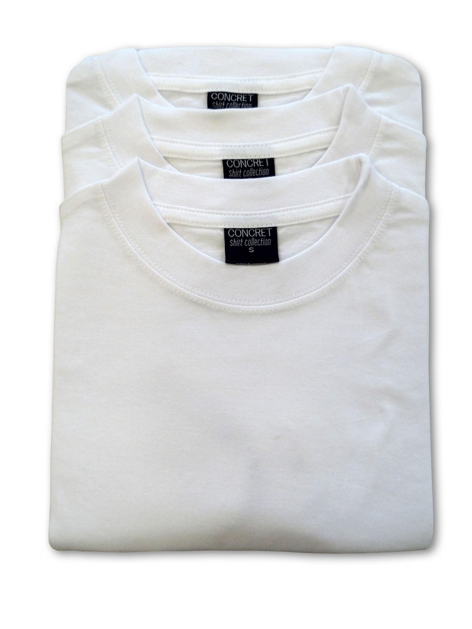 Herren T-Shirts 3erpack weiss,  Rundhals, (auch in Übergrössen erhältlich) 1301 – Bild 2