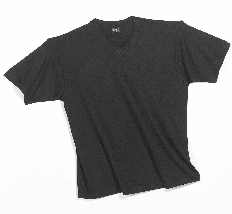 Herren T-Shirts 3erpack schwarz,  V-Hals, (auch in Übergrössen erhältlich) 1304 001