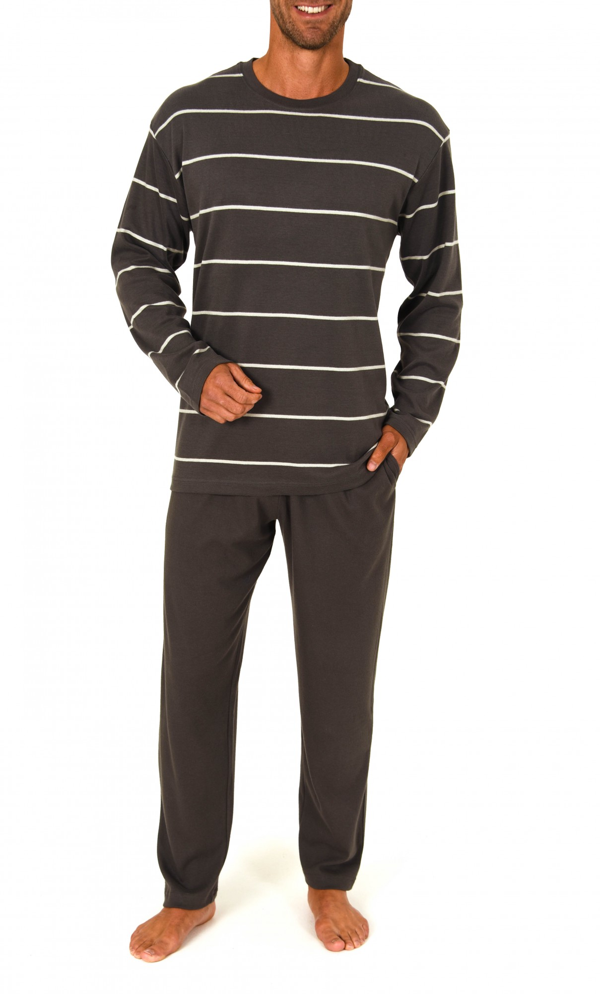Pyjama lang, Rundhals, Interlock, 251 101 96 779 001